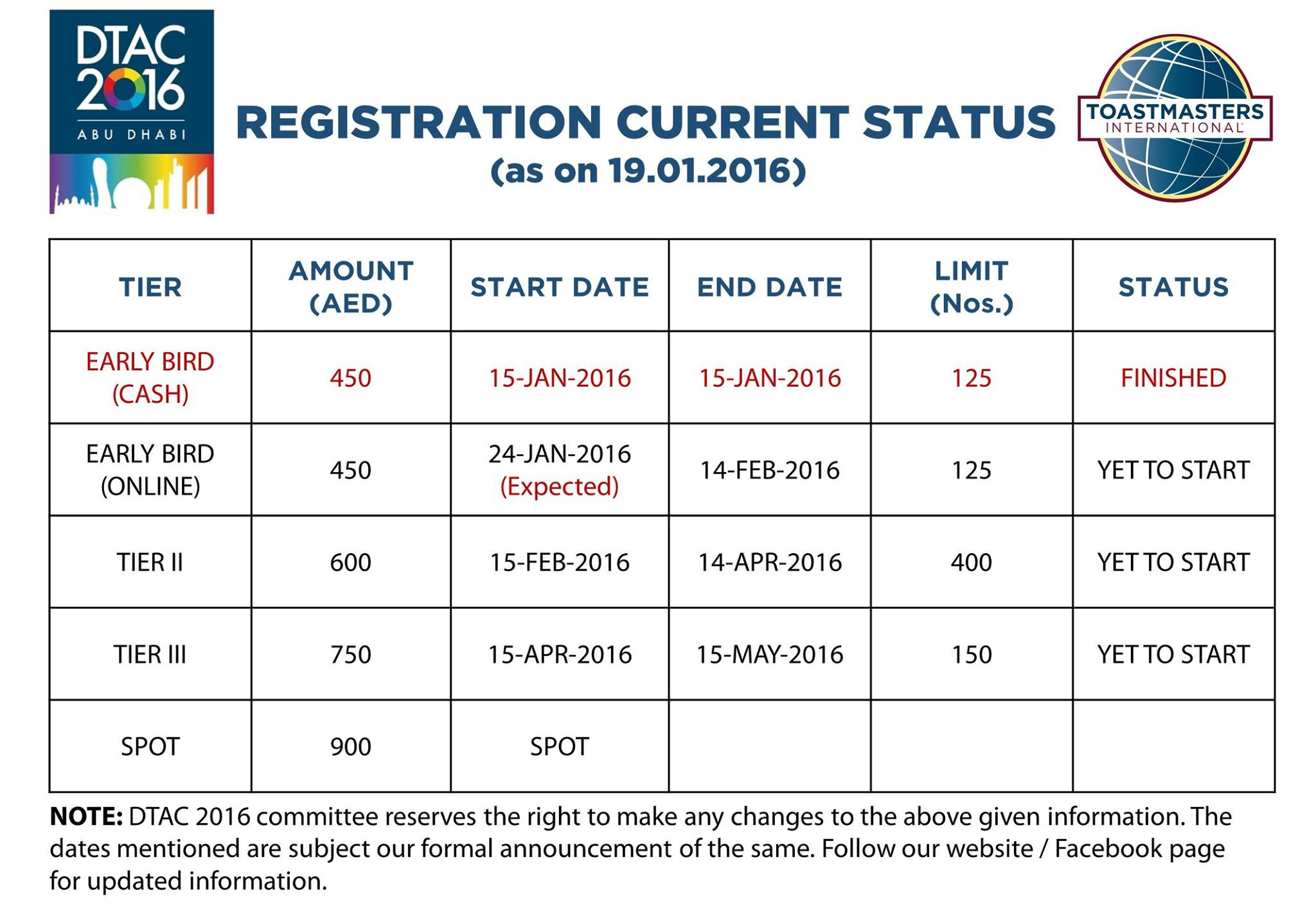DTAC 2016 Registration